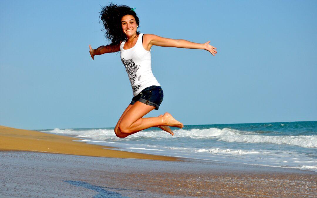walk and Jump on the Beach